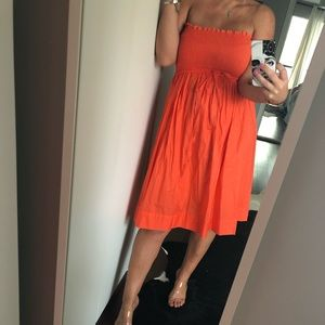 ZARA Bright orange dress sz M
